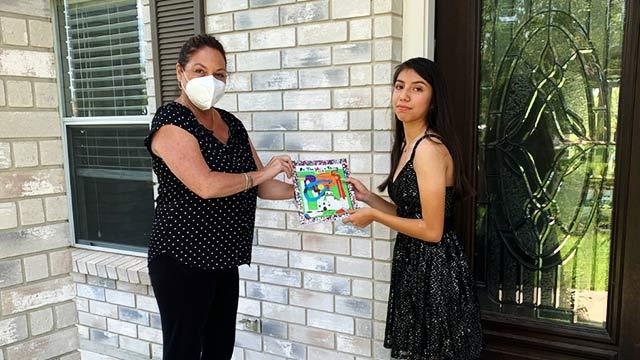 436th Juvenile District Court Judge Lisa Jarrett and finalist Danica Soto